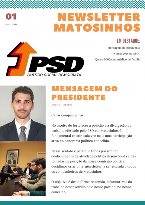 Newsletter Abril 2018