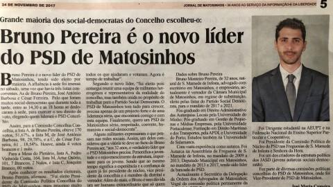Bruno Pereira é o novo líder do PSD Matosinhos