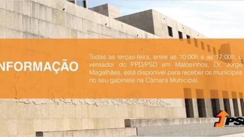 Vereador Dr. Jorge Magalhães do PSD, ouve cidadãos na Câmara Municipal todas as terças-feira