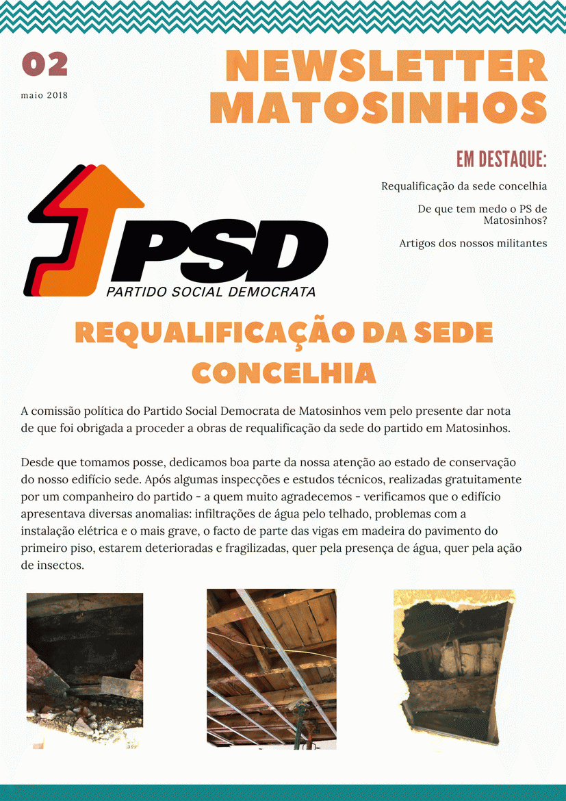 Newsletter Maio 2018