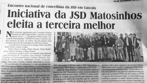 Iniciativa da JSD Matosinhos eleito o terceiro melhor projecto do país