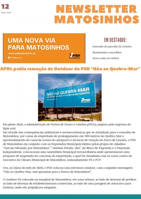 Newsletter Maio 2019