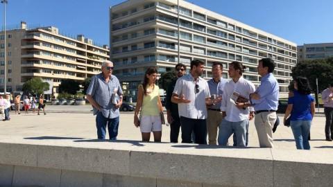 Hugo Carvalho no calçadão de Matosinhos – Distribuição de material campanha