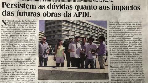 Persistem as dúvidas quanto aos impactos das futuras obras da APDL