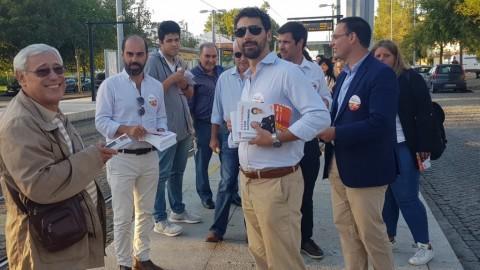 Ação de campanha no Metro, distribuição do Flyer com as propostas para Matosinhos