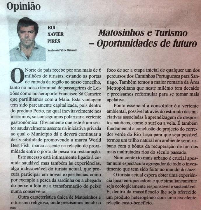 Matosinhos e Turismo - Oportunidades de Futuro | Rui Xavier Pires