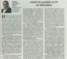 Estado da Oposição no PS em Matosinhos