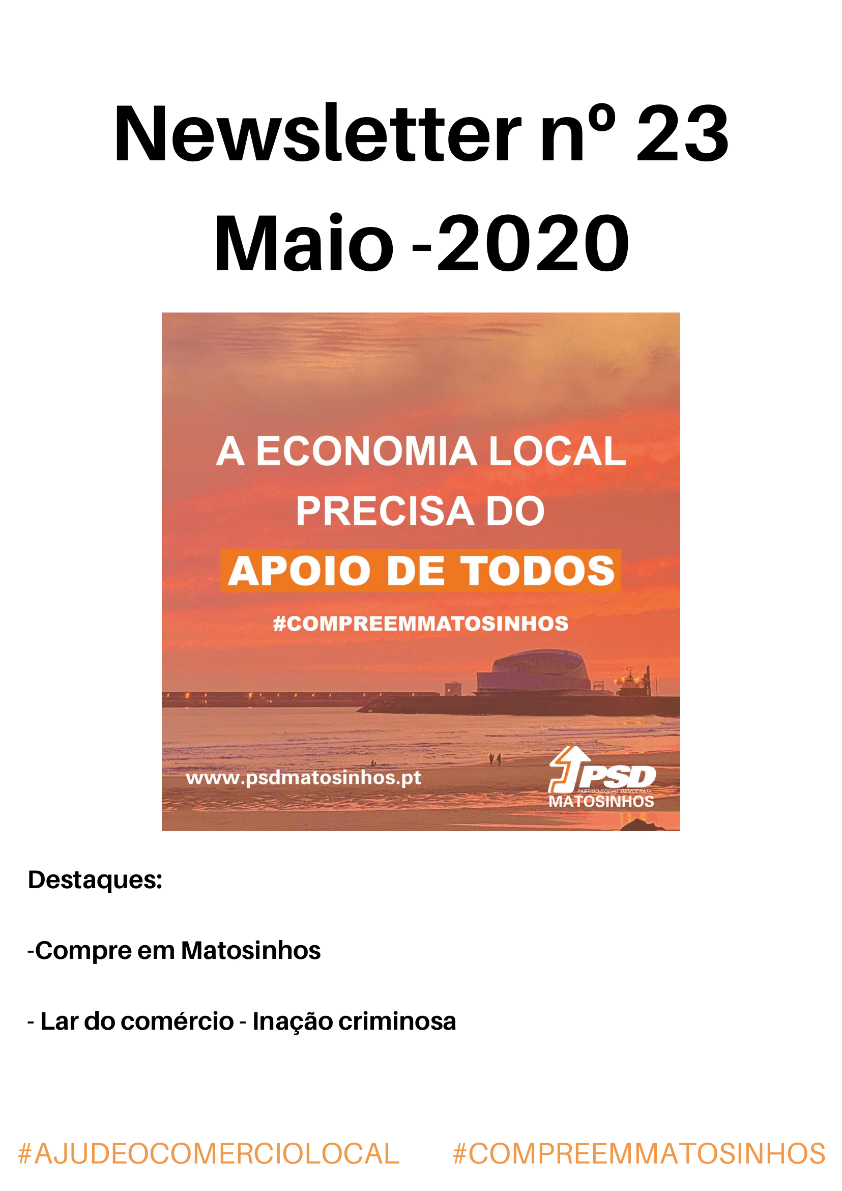 Newsletter Maio 2020